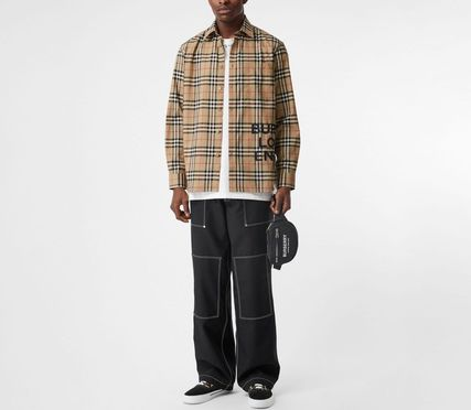 Burberry Shirts Other Check Patterns Street Style Long Sleeves Cotton Shirts 4