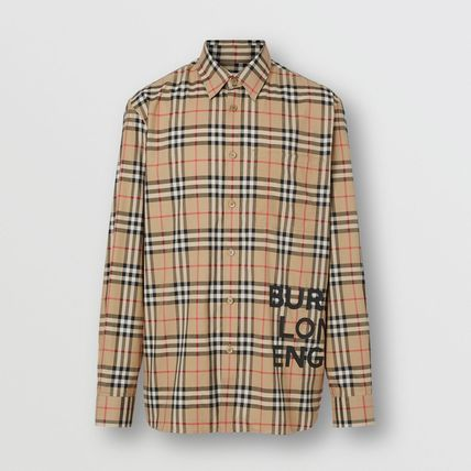 Burberry Shirts Other Check Patterns Street Style Long Sleeves Cotton Shirts 5