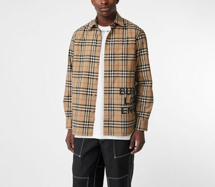 Burberry Shirts Other Check Patterns Street Style Long Sleeves Cotton Shirts 6