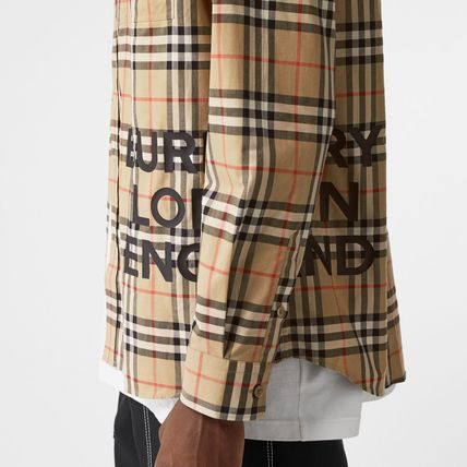 Burberry Shirts Other Check Patterns Street Style Long Sleeves Cotton Shirts 8