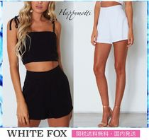 WHITE FOX Short Plain Elegant Style Shorts