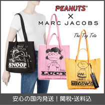 MARC JACOBS THE TAG TOTE Casual Style Collaboration A4 Plain Other Animal Patterns