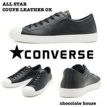 CONVERSE ALL STAR Unisex Plain Leather Sneakers