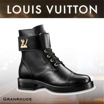 Louis Vuitton Rubber Sole Casual Style Plain Leather Ankle & Booties Boots