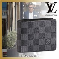 Louis Vuitton DAMIER GRAPHITE Other Check Patterns Folding Wallets