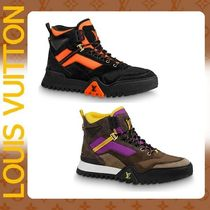 Louis Vuitton Mountain Boots Street Style Plain Leather Outdoor Boots