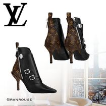 Louis Vuitton Leather Pin Heels Ankle & Booties Boots
