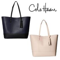Cole Haan A4 Plain Leather Office Style Totes