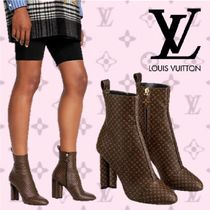 Louis Vuitton Monogram Elegant Style Ankle & Booties Boots