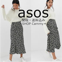 ASOS Flower Patterns Casual Style Maxi Long Midi Maxi Skirts