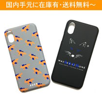 MAISON KITSUNE Unisex Street Style Collaboration Smart Phone Cases