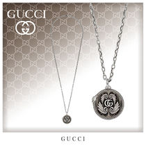 GUCCI Unisex Street Style Bi-color Silver Necklaces & Chokers
