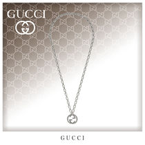 GUCCI Unisex Street Style Chain Silver Necklaces & Chokers