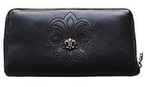 CHROME HEARTS BS FLARE Unisex Blended Fabrics Street Style Leather Long Wallets