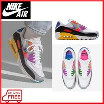 Nike AIR MAX 90 Rubber Sole Lace-up Casual Style Unisex Street Style
