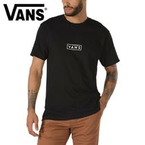 VANS Cable Knit Street Style Plain Cotton Short Sleeves