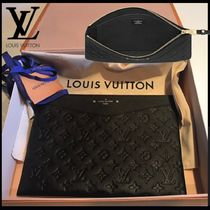 Louis Vuitton MONOGRAM EMPREINTE Monogram Unisex Bag in Bag 2WAY Leather Clutches