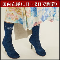 VETEMENTS Casual Style Street Style Plain High Heel Boots