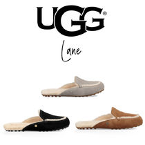 UGG Australia LANE Casual Style Sheepskin Plain Slip-On Shoes