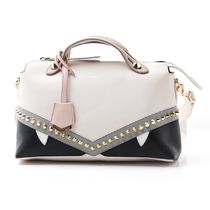 FENDI BY THE WAY 2WAY Leather Elegant Style Handbags