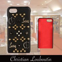 Christian Louboutin Studded Leather Smart Phone Cases