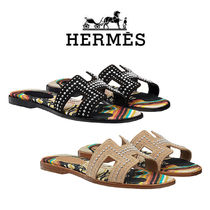 HERMES Oran Casual Style Flat Sandals