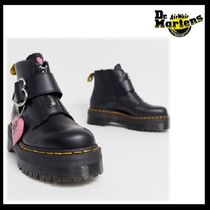 Dr Martens Heart Round Toe Casual Style Blended Fabrics Street Style