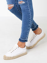 SOLUDOS Platform Round Toe Casual Style Plain Lace-Up Shoes