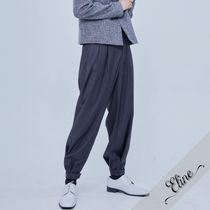 OPEN THE DOOR Slax Pants Street Style Plain Oversized Slacks Pants