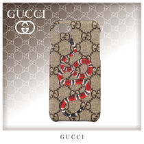 GUCCI GG Supreme Unisex Street Style Smart Phone Cases