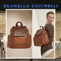 BRUNELLO CUCINELLI Casual Style Plain Leather Backpacks