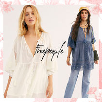 Free People Blended Fabrics Street Style Collaboration Tunics