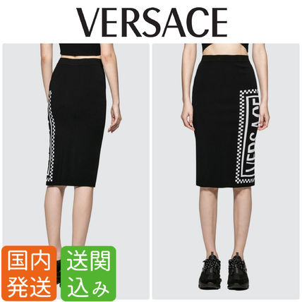 Pencil Skirts Casual Style Street Style Plain Medium