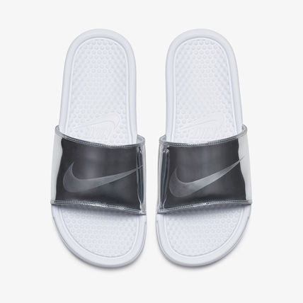 Nike BENASSI Unisex Street Style Plain Shower Shoes PVC Clothing Logo