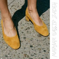 MARYAM NASSIR ZADEH Plain Toe Suede Street Style Plain Home Party Ideas