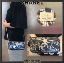 CHANEL ICON 3WAY Bi-color Chain Leather Elegant Style Shoulder Bags