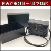 Saint Laurent LOULOU Monogram Casual Style Street Style 2WAY Leather