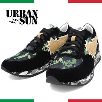 URBAN SUN Camouflage Unisex Suede Street Style Sneakers