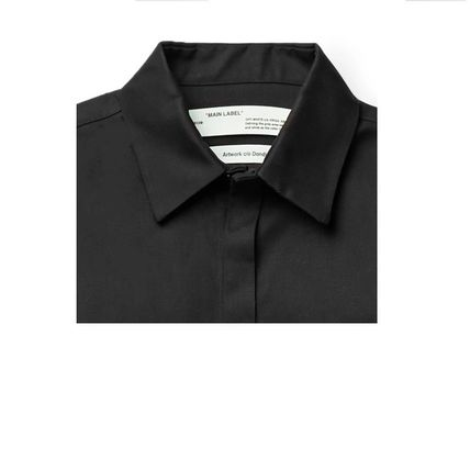 Off-White Shirts Button-down Street Style Plain Short Sleeves Shirts 2