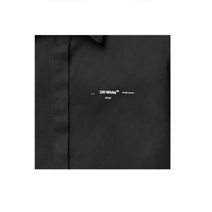 Off-White Shirts Button-down Street Style Plain Short Sleeves Shirts 3