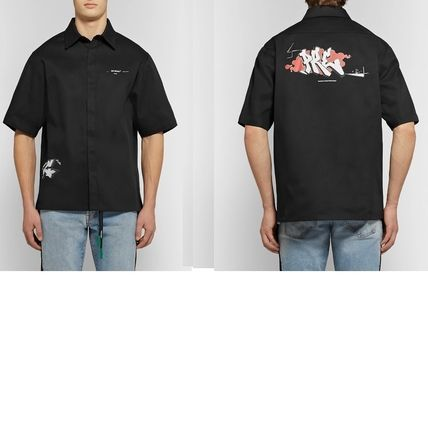 Off-White Shirts Button-down Street Style Plain Short Sleeves Shirts 6