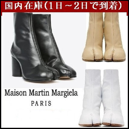 Maison Martin Margiela Ankle & Booties Casual Style Street Style Plain Leather