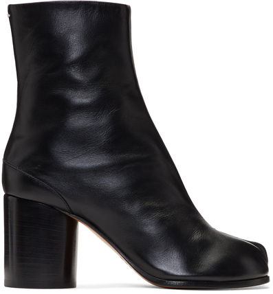 Maison Martin Margiela Ankle & Booties Casual Style Street Style Plain Leather 4