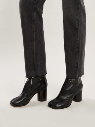Maison Martin Margiela Ankle & Booties Casual Style Street Style Plain Leather 6