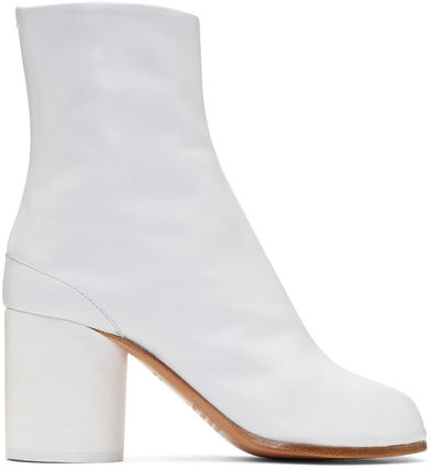 Maison Martin Margiela Ankle & Booties Casual Style Street Style Plain Leather 8