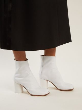 Maison Martin Margiela Ankle & Booties Casual Style Street Style Plain Leather 10