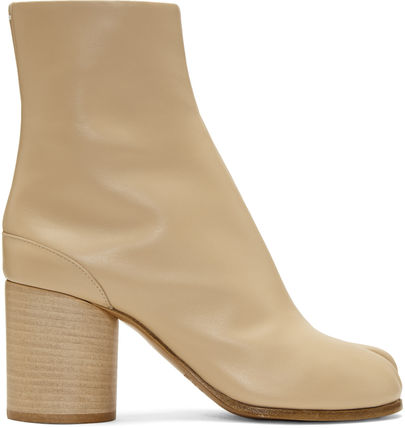 Maison Martin Margiela Ankle & Booties Casual Style Street Style Plain Leather 12