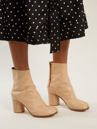 Maison Martin Margiela Ankle & Booties Casual Style Street Style Plain Leather 14