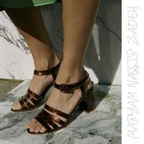 MARYAM NASSIR ZADEH Open Toe Street Style Other Animal Patterns Leather