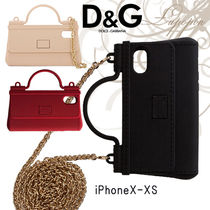 Dolce & Gabbana SICILY Chain Plain Silicon Smart Phone Cases